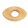 Shell Oval With Center Hole 15x25mm Light Gold